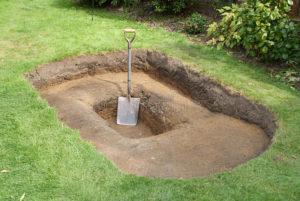 construcción de estanque de lona