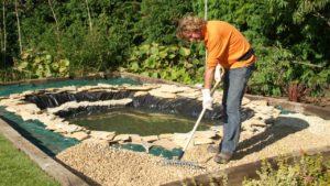 elaboracion de estanque de lona