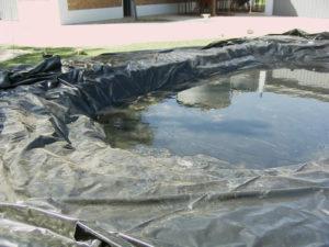estanque en construccion