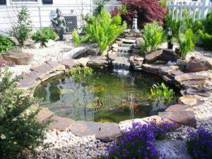 estanque de jardin terminado